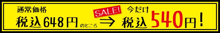 特別価格540円!