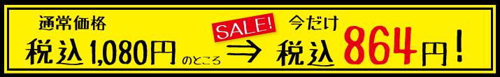 特別価格864円!